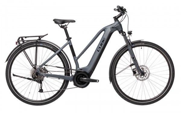 Cube Touring Hybrid One 500 Wh Trapez Modell 2021 grey n black