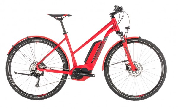 Cube Cross Hybrid Pro Allroad 500Wh Trapez Modell 2019 red n grey 1