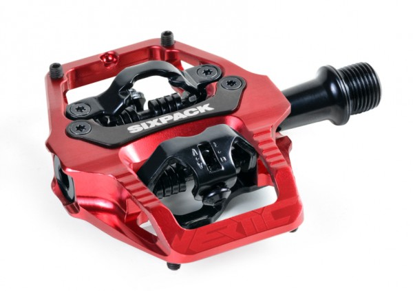 Sixpack Klickpedale Vertic Trail rot