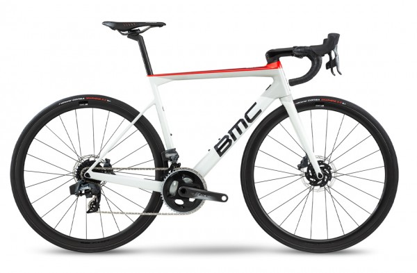 BMC Teammachine SLR01 Disc Three Force AXS HRD Modell 2020 weiß