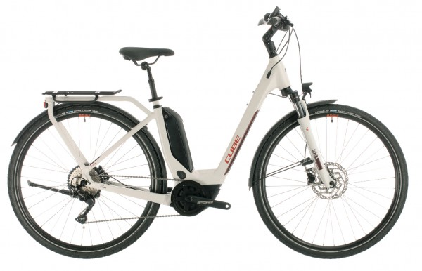 Cube Touring Hybrid Pro 500 Wh Tiefeinstieg Modell 2020 grey n red