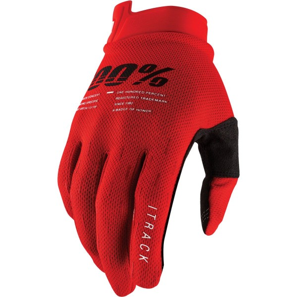 100% iTrack Gloves red